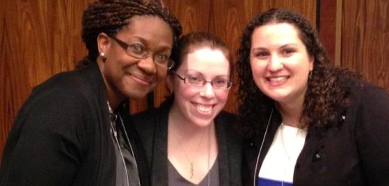 Doctoral student Melinda Anderson, and master's students Elise Buckley and Aimee Stright