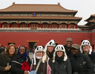 W&M students at the Forbidden City