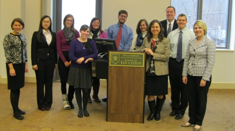 Higher education students alongside alumni of the higher program following mock interviews