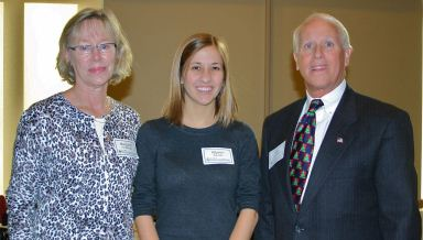 Margaret and Bob Hershberger with their scholarship recipient, Allyson Kveselis