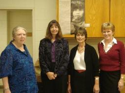 Helen Rountree, Karenne Wood, Lisa Heuval and Gail McEachron