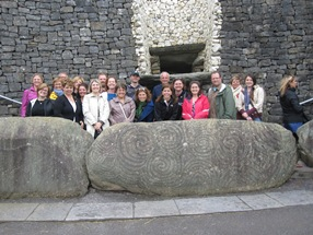 College of William and Mary and Central Michigan University Global Studies group at Newgrange (prehistoric monument), County Meath
