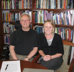 Professor John Noell Moore and Laura Bagbey '11