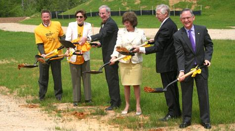 School of Education Groundbreaking Ceremony in April 2008