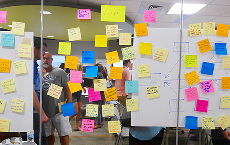 Teachers in the first cohort brainstorm during the 2018 Summer Academy.