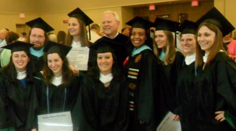 Professor Moore with the 2014 graduates